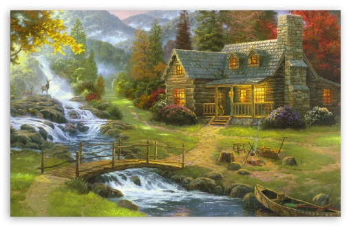 Mountain Paradise by Thomas Kinkade HD wallpaper for Wide 16:10 5:3 Widescreen WHXGA WQXGA WUXGA WXGA WGA ; HD 16:9 High Definition WQHD QWXGA 1080p 900p 720p QHD nHD ; Standard 4:3 5:4 3:2 Fullscreen UXGA XGA SVGA QSXGA SXGA DVGA HVGA HQVGA devices ( Apple PowerBook G4 iPhone 4 3G 3GS iPod Touch ) ; Tablet 1:1 ; iPad 1/2/Mini ; Mobile 4:3 5:3 3:2 16:9 5:4 - UXGA XGA SVGA WGA DVGA HVGA HQVGA devices ( Apple PowerBook G4 iPhone 4 3G 3GS iPod Touch ) WQHD QWXGA 1080p 900p 720p QHD nHD QSXGA SXGA ; Dual 16:10 5:3 16:9 4:3 5:4 WHXGA WQXGA WUXGA WXGA WGA WQHD QWXGA 1080p 900p 720p QHD nHD UXGA XGA SVGA QSXGA SXGA ;