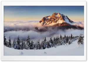 Mountain Peak Above The Clouds HD Wide Wallpaper for 4K UHD Widescreen desktop & smartphone