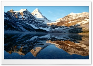 Mountain Peaks Reflection HD Wide Wallpaper for Widescreen