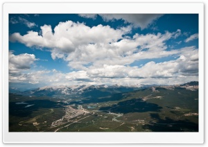 Mountain Range Aerial View HD Wide Wallpaper for Widescreen