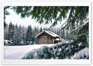 Mountain Retreat Winter HD Wide Wallpaper for 4K UHD Widescreen desktop & smartphone