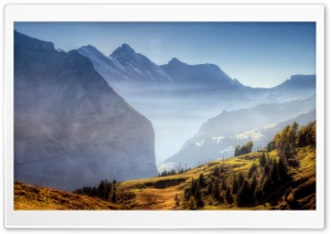 Mountain Ridge Autumn HD Wide Wallpaper for Widescreen