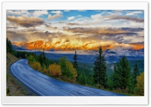 Mountain Road HD Wide Wallpaper for Widescreen