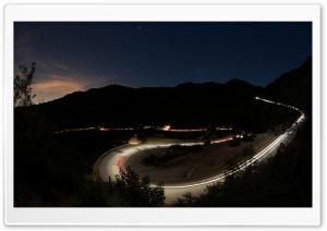 Mountain Road Nightlights HD Wide Wallpaper for Widescreen