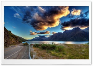 Mountain Road Scenery HD Wide Wallpaper for Widescreen