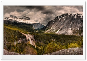 Mountain Road, Snow Clouds HD Wide Wallpaper for Widescreen