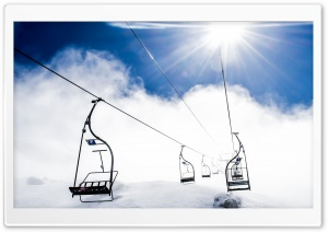 Mountain Ropeway Ski Resort HD Wide Wallpaper for Widescreen