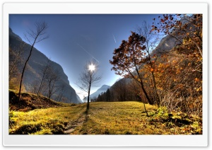 Mountain Scene Autumn HD Wide Wallpaper for Widescreen