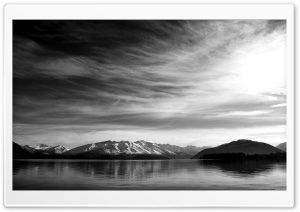 Mountain Scenery Black And White HD Wide Wallpaper for Widescreen
