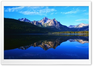 Mountain Scenery Reflection HD Wide Wallpaper for Widescreen