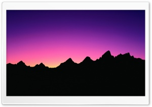 Mountain Silhouette HD Wide Wallpaper for Widescreen