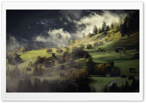 Mountain Slope, Mist HD Wide Wallpaper for Widescreen