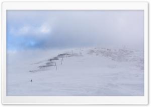 Mountain Stairway, Snow, Winter HD Wide Wallpaper for 4K UHD Widescreen desktop & smartphone