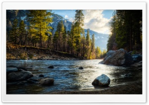 Mountain Stream HDR HD Wide Wallpaper for Widescreen