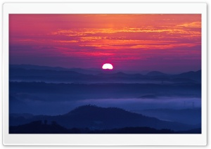 Mountain Sunset HD Wide Wallpaper for Widescreen