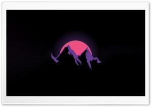 Mountain, Sunset, Cartoon Background Ultra HD Wallpaper for 4K UHD Widescreen desktop, tablet & smartphone