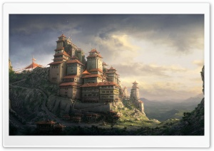 Mountain Top Fortress HD Wide Wallpaper for Widescreen