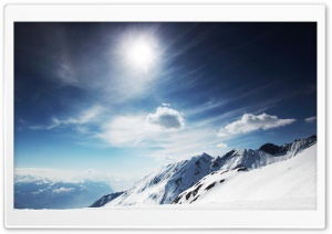 Mountain Top In Winter HD Wide Wallpaper for Widescreen