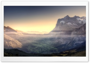 Mountain Valley View HD Wide Wallpaper for Widescreen