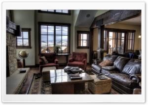 Mountain Villa Interior HD Wide Wallpaper for 4K UHD Widescreen desktop & smartphone