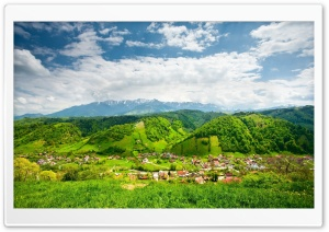 Mountain Village HD Wide Wallpaper for Widescreen