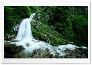 Mountain Waterfall HD Wide Wallpaper for Widescreen