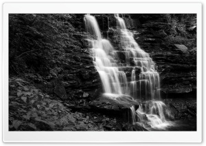 Mountain Waterfall Black and White Ultra HD Wallpaper for 4K UHD Widescreen desktop, tablet & smartphone