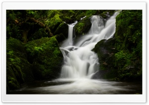 Mountain Waterfall Nature Ultra HD Wallpaper for 4K UHD Widescreen desktop, tablet & smartphone