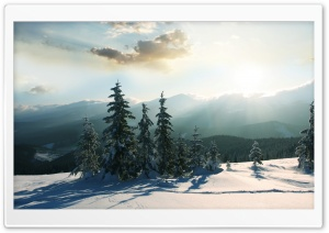 Mountain Winter HD Wide Wallpaper for Widescreen