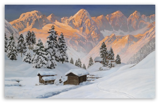 Mountain Winter Painting HD wallpaper for Wide 16:10 5:3 Widescreen WHXGA WQXGA WUXGA WXGA WGA ; HD 16:9 High Definition WQHD QWXGA 1080p 900p 720p QHD nHD ; Standard 4:3 5:4 3:2 Fullscreen UXGA XGA SVGA QSXGA SXGA DVGA HVGA HQVGA devices ( Apple PowerBook G4 iPhone 4 3G 3GS iPod Touch ) ; Tablet 1:1 ; iPad 1/2/Mini ; Mobile 4:3 5:3 3:2 16:9 5:4 - UXGA XGA SVGA WGA DVGA HVGA HQVGA devices ( Apple PowerBook G4 iPhone 4 3G 3GS iPod Touch ) WQHD QWXGA 1080p 900p 720p QHD nHD QSXGA SXGA ;