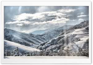 Mountain Winter Scenery, HDR HD Wide Wallpaper for Widescreen
