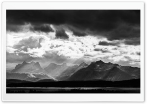 Mountains Black and White Landscape HD Wide Wallpaper for Widescreen