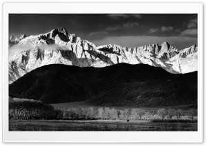 Mountains Monochrome HD Wide Wallpaper for Widescreen