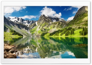 Mountains Reflection HD Wide Wallpaper for 4K UHD Widescreen desktop & smartphone