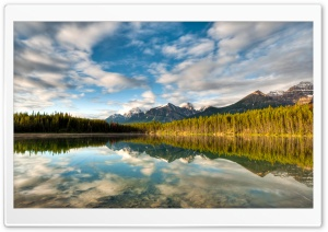 Mountainscape Reflection HD Wide Wallpaper for Widescreen