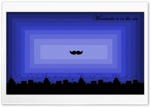 Moustache is in the Air HD Wide Wallpaper for Widescreen