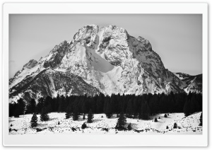 Mt Moran Black and White HD Wide Wallpaper for Widescreen
