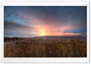 Mt Timpanogos Alpenglow HD Wide Wallpaper for 4K UHD Widescreen desktop & smartphone