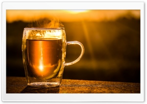 Mug Of Hot Tea HD Wide Wallpaper for Widescreen