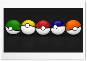 Multicolor Pokeballs HD Wide Wallpaper for Widescreen