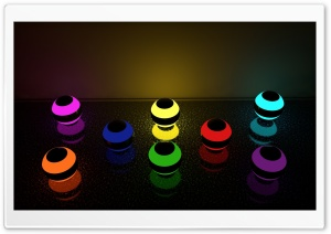 MultiGlowing Marbles HD Wide Wallpaper for Widescreen