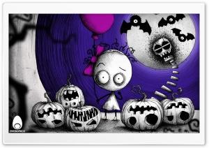 Murasaki Baby Puzzle Video Game Halloween HD Wide Wallpaper for 4K UHD Widescreen desktop & smartphone