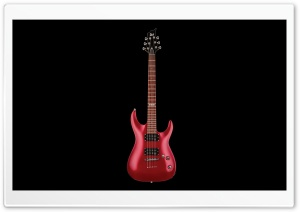 Music Electric Guitar Instrument Black Background HD Wide Wallpaper for 4K UHD Widescreen desktop & smartphone