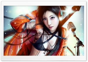 Music Girl HD Wide Wallpaper for Widescreen