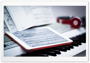 Music in a Slate Ultra HD Wallpaper for 4K UHD Widescreen desktop, tablet & smartphone