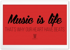 Music is Life. HD Wide Wallpaper for Widescreen