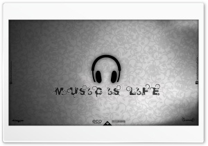 Music Is Life HD Wide Wallpaper for 4K UHD Widescreen desktop & smartphone