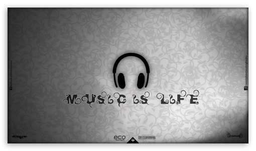 Music Is Life HD wallpaper for HD 16:9 High Definition WQHD QWXGA 1080p 900p 720p QHD nHD ;