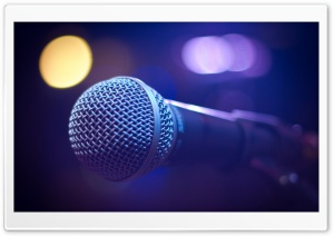 Music Microphone HD Wide Wallpaper for 4K UHD Widescreen desktop & smartphone