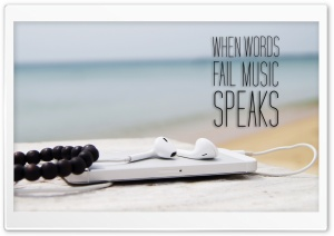 Music Speaks HD Wide Wallpaper for Widescreen